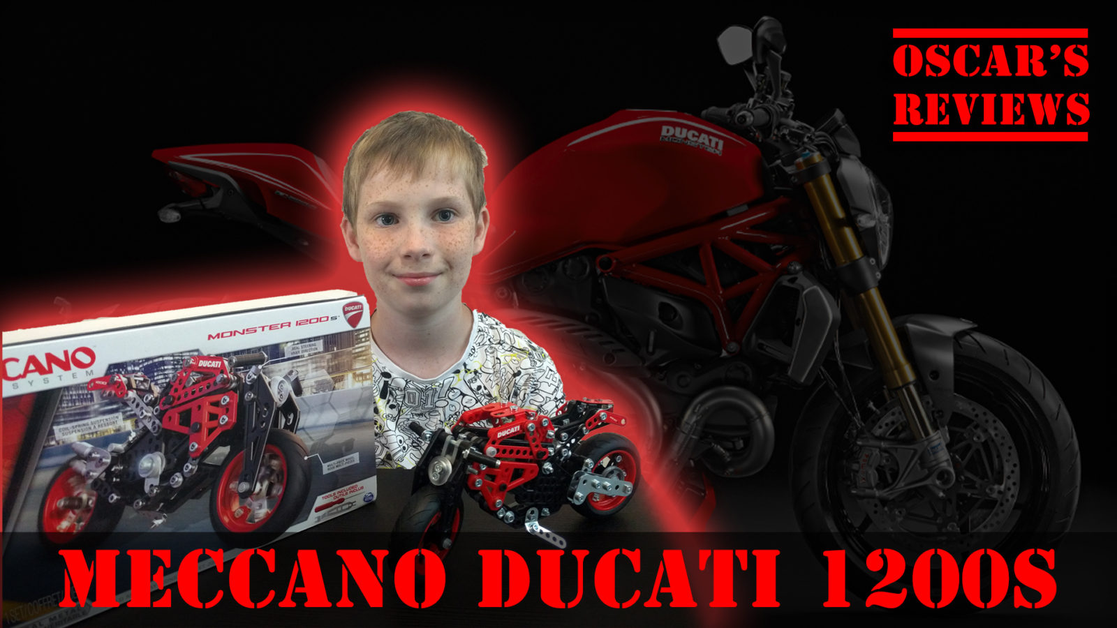 Meccano Ducati Monster 1200s – A Kid's Review