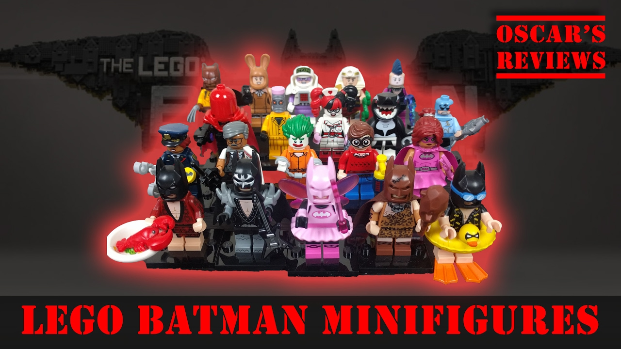 The LEGO Batman Movie Minifigures COMPLETE SET of 20 Mini Figures Reviewed