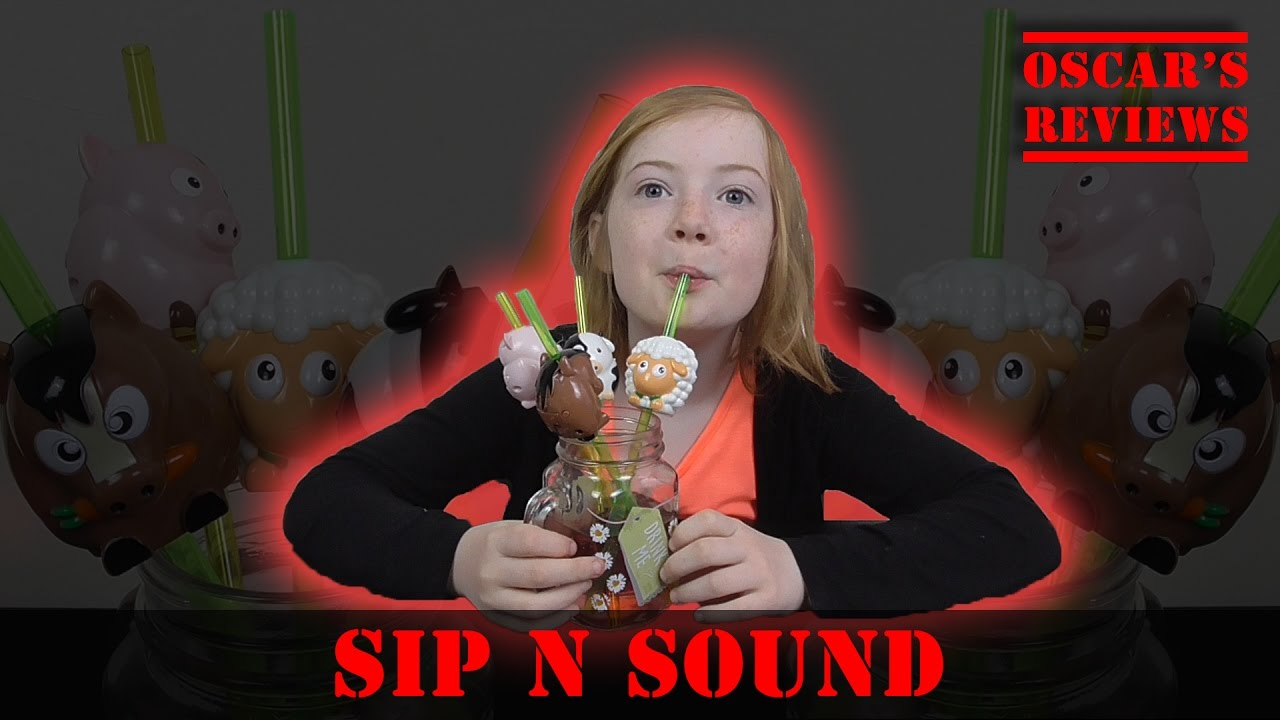 Sip n Sound – A Kid's Review of These Novelty Farm Animal Drinking Straws