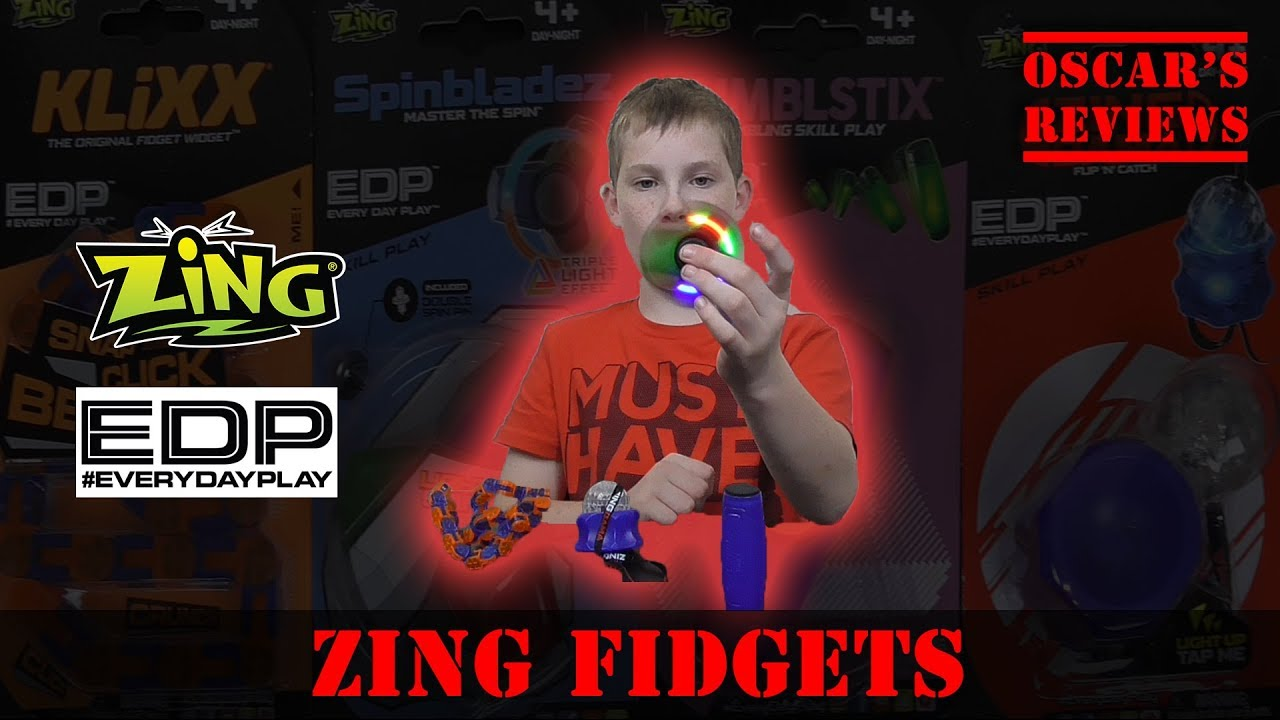 Zing #EveryDayPlay Pocket Money Fidget Toys – Review & Demo: Klixx, Tumblstix, Zing Dama, Spinbladez