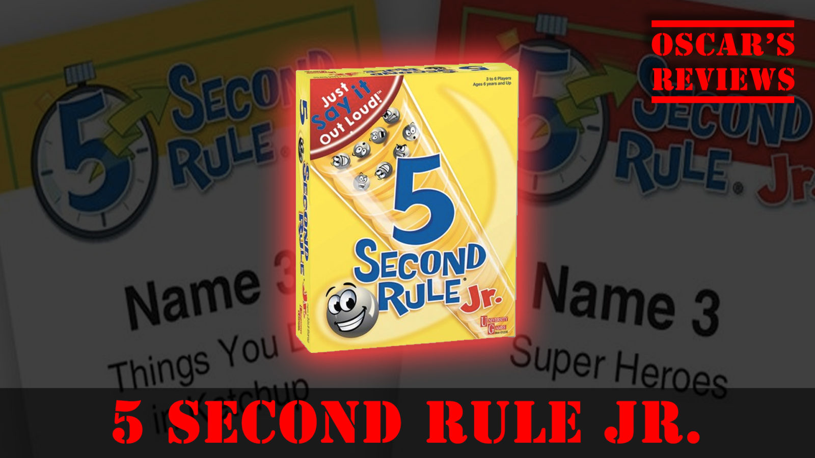 Name 3 Things You Want for Christmas. Fun with 5 Second Rule Jr. from University Games