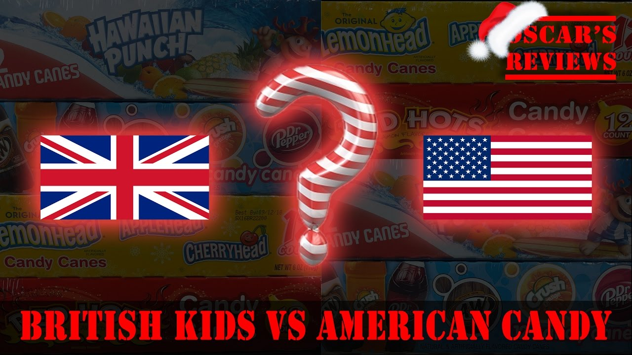 British Kids Try American Candy Canes. Taste Test Fun Challenge (Kids React)