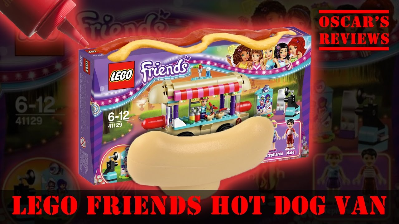 Lego Friends Hot Dog Van 41129 A Kids Build And Review Of The New
