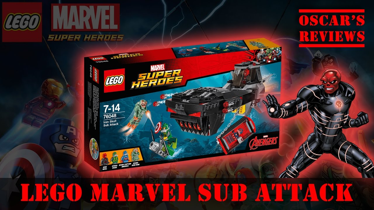LEGO Marvel Iron Skull Sub Attack – Kids Build and Review (76048)