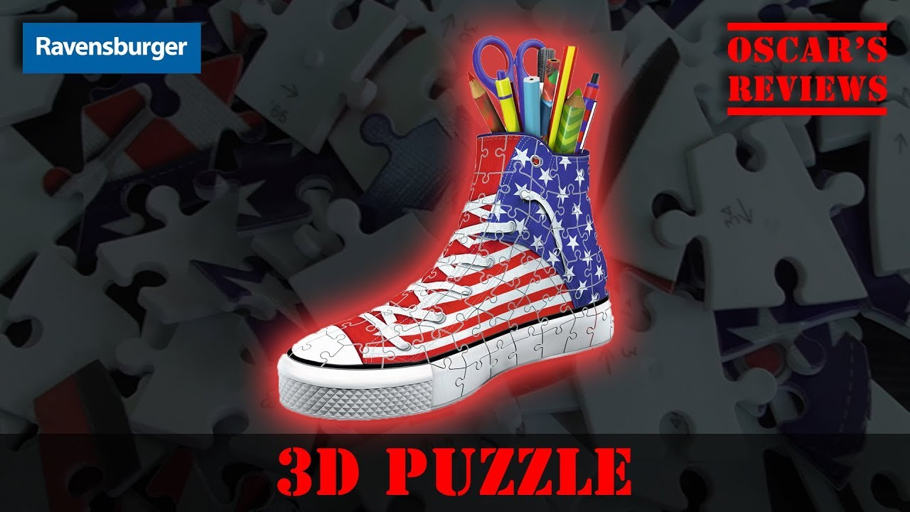 Building a 3D Sneaker from Ravensburger #America #3D