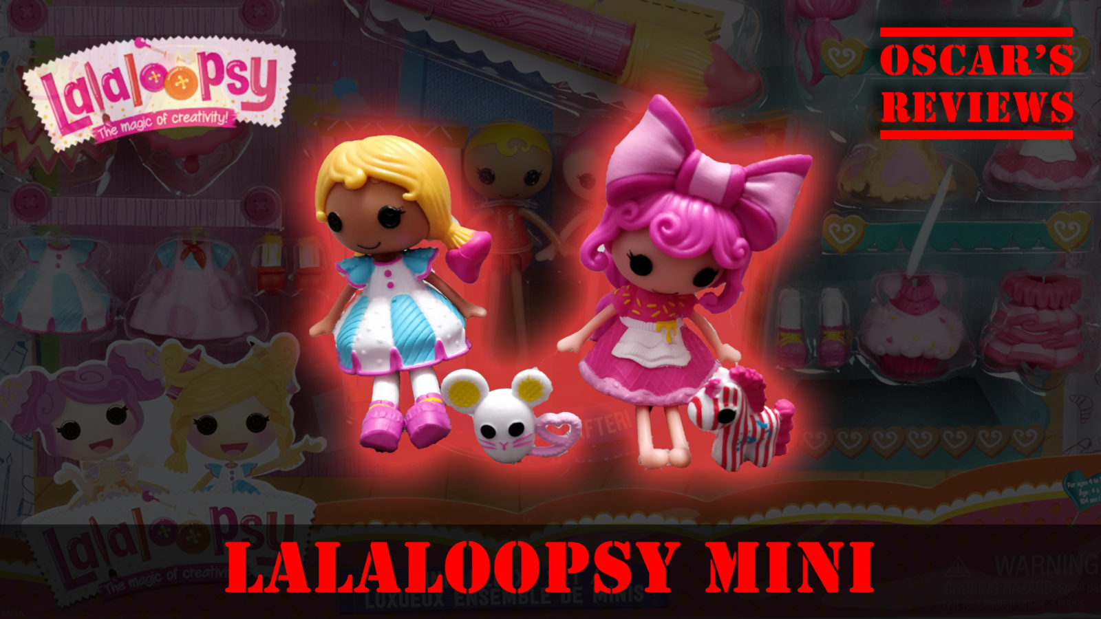 Lalaloopsy Minis Deluxe Doll with Spot Splatter Splash and Crumbs Sugar Cookie