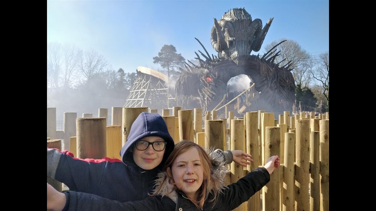 Kid Reacts to Wicker Man – The Brand New Wooden Rollercoaster at Alton Towers, UK